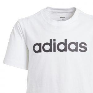 Adidas Essentials Linear T-Paita Nuorten Valkoinen