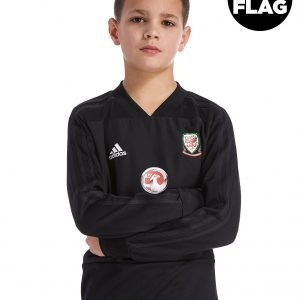 Adidas Fa Wales 2018/19 Training Top Musta