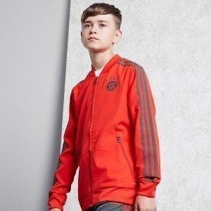 Adidas Fc Bayern Munich 18 / 19 Presentation Jacket Punainen