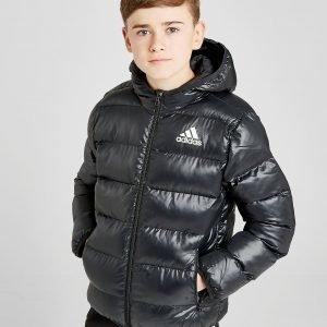 Adidas Hooded Bomber Jacket Musta