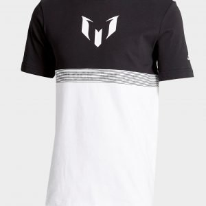 Adidas Messi Colour Block T-Shirt Musta