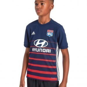 Adidas Olympique Lyon 2017/18 Away Shirt Indigo / Red / White