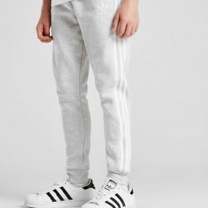 Adidas Originals 3-Stripes Fleece Track Pants Harmaa