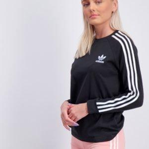 Adidas Originals 3stripes Longsleeve Paita Musta