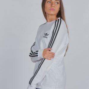 Adidas Originals 3stripes Ls Paita Valkoinen