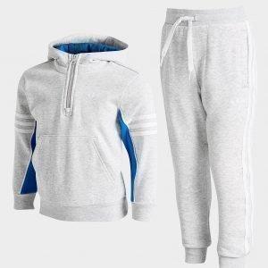 Adidas Originals Authentic 1/4 Zip Tracksuit Harmaa