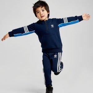 Adidas Originals Authentic 1/4 Zip Tracksuit Infant Sininen