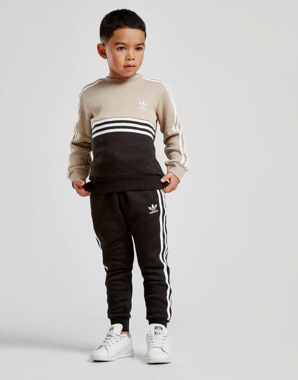 Adidas Originals Authentic Crew Tracksuit Beige
