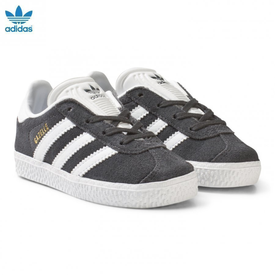 Adidas Originals Black And White Gazelle Infant Trainers Lenkkarit