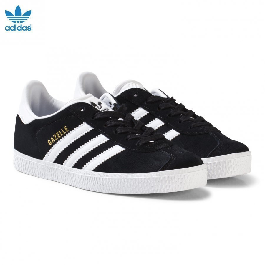 Adidas Originals Black And White Gazelle Kids Trainers Lenkkarit