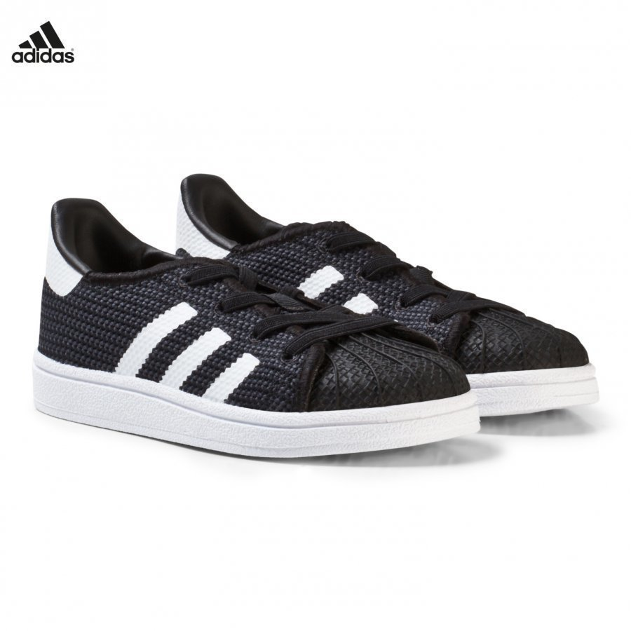 Adidas Originals Black And White Superstar Infant Trainers Lenkkarit