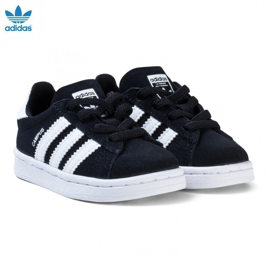 Adidas Originals Black Infants Campus Trainers Lenkkarit