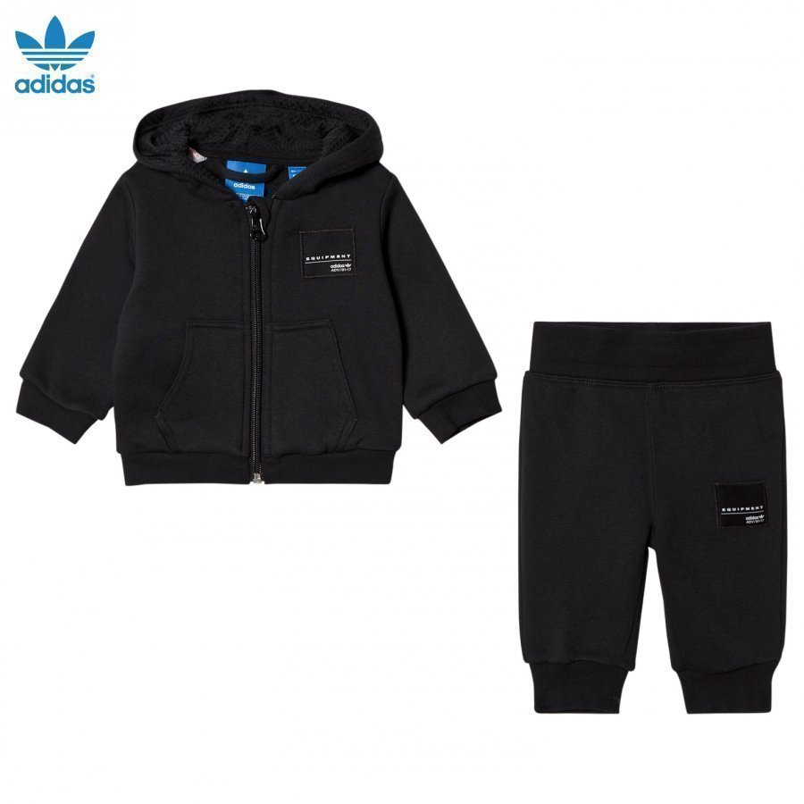 Adidas Originals Black Infants Equipment Hoodie Set Asusetti