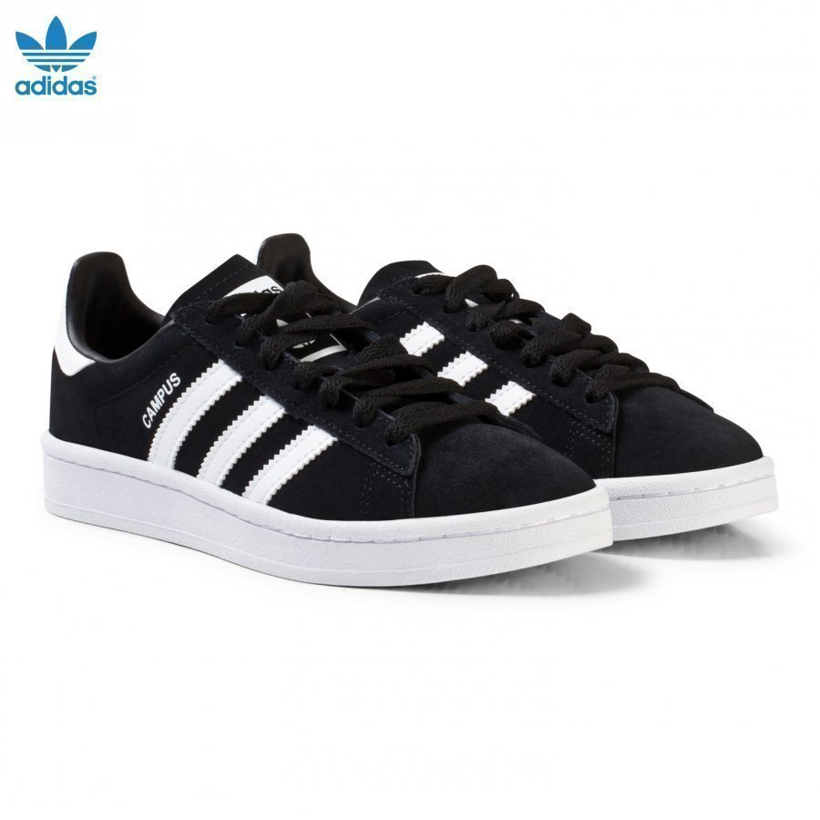 Adidas Originals Black Junior Campus Trainers Lenkkarit