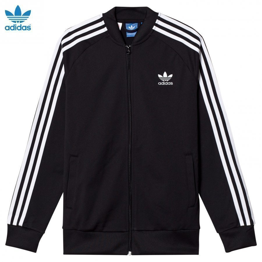 Adidas Originals Black Junior Track Top Verryttelytakki