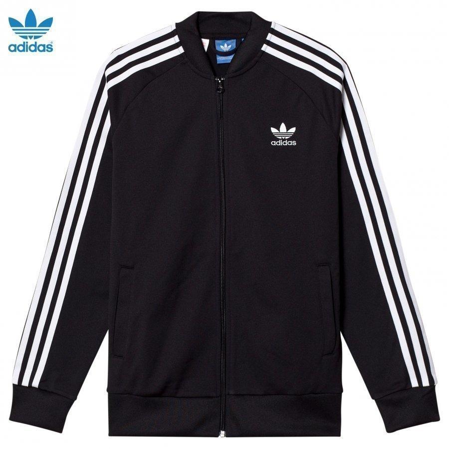 Adidas Originals Black Junior Track Top Verryttelytakki