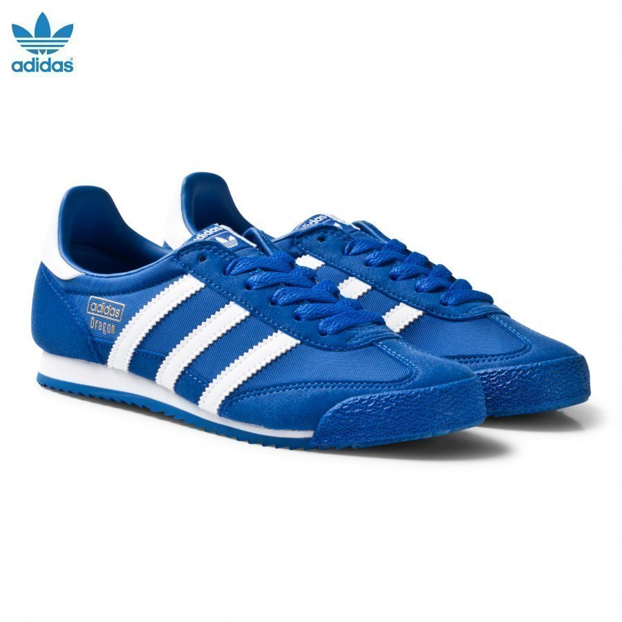 Adidas Originals Blue And White Dragon Junior Trainers Lenkkarit