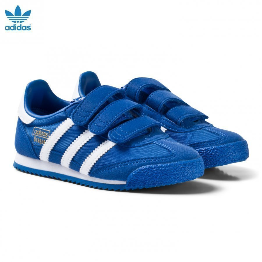 Adidas Originals Blue And White Kids Dragon Trainers Lenkkarit