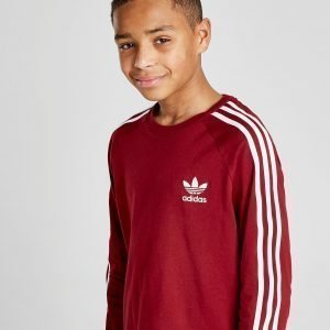 Adidas Originals California Long Sleeve T-Paita Burgundy / White