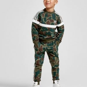 Adidas Originals Camo Itasca Crew Tracksuit Vihreä