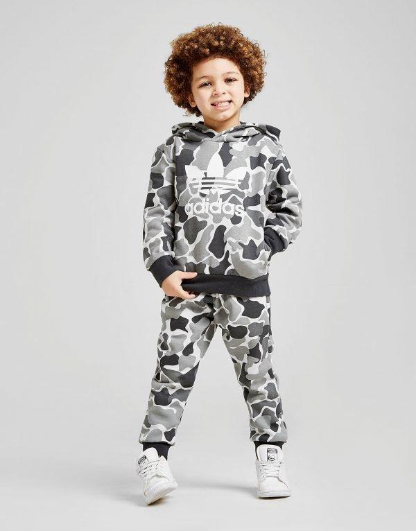 Adidas Originals Camo Overhead Suit Harmaa