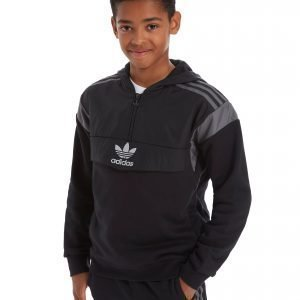 Adidas Originals Europe 1/4 Zip Hoodie Musta