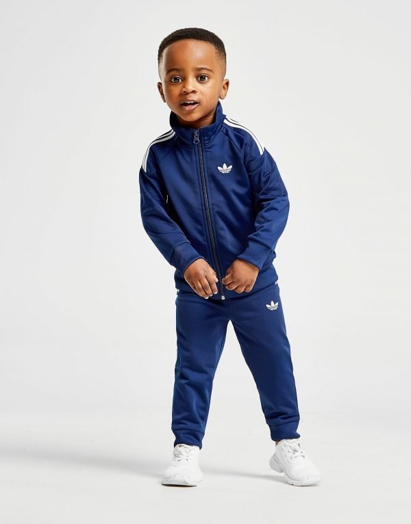 Adidas Originals Flamestrike Tracksuit Infant Sininen