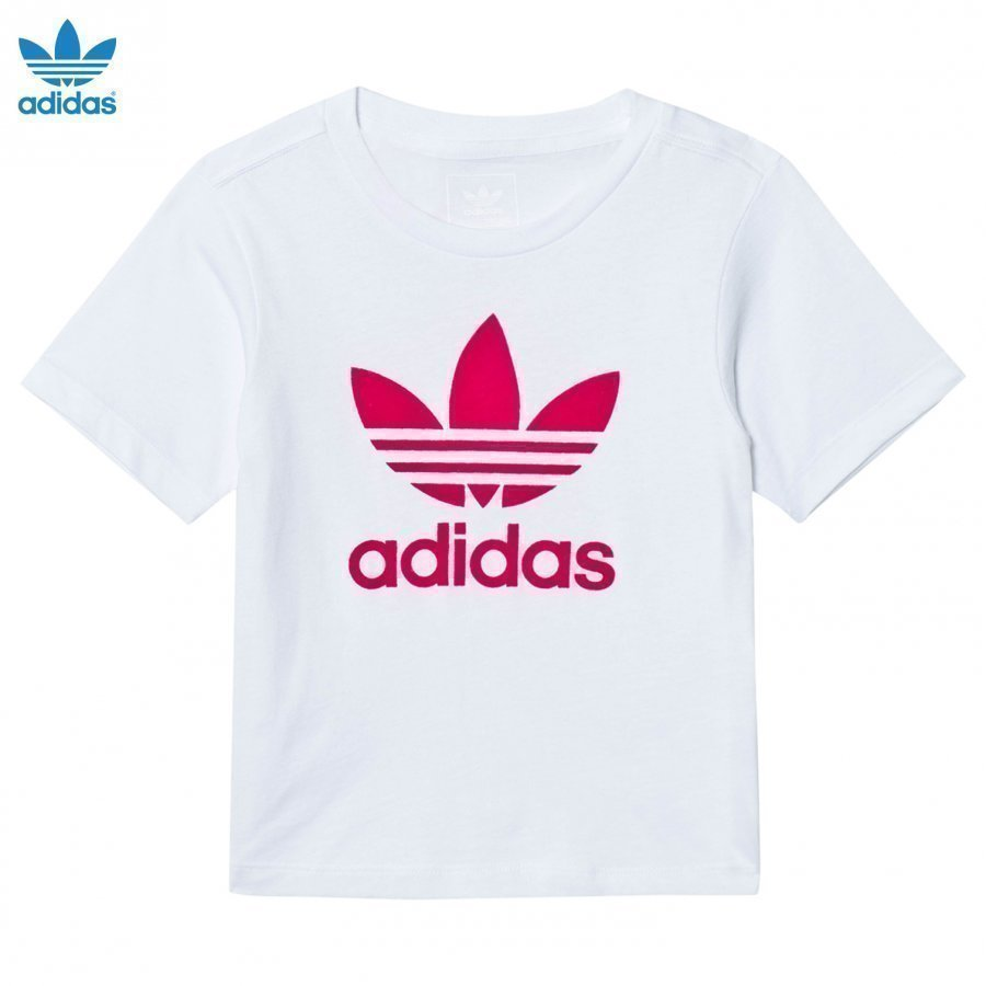 Adidas Originals Flocked Pink Logo Tee T-Paita