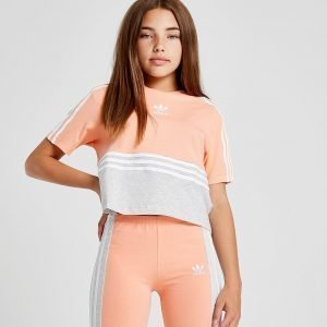 Adidas Originals Girls' Crop Authentic T-Shirt Oranssi