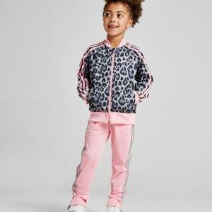 Adidas Originals Girls' Leopard Superstar Tracksuit Harmaa
