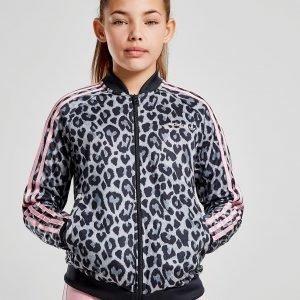 Adidas Originals Girls' Leopard Superstar Verrytelypuvun Takki Harmaa