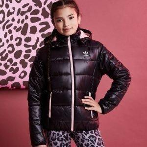 Adidas Originals Girls' Padded Jacket Musta