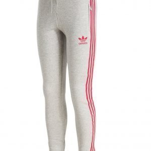Adidas Originals Girls' Slim Pants Grey Marl / Pink