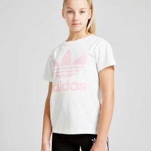 Adidas Originals Girls' Trefoil Boyfriend T-Shirt Valkoinen