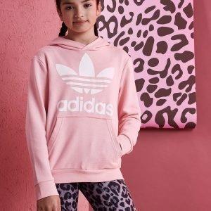 Adidas Originals Girls' Trefoil Huppari Vaaleanpunainen