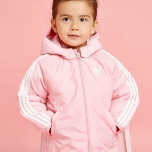 Adidas Originals Girls' Trefoil Padded Jacket Infant Vaaleanpunainen