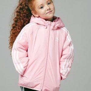 Adidas Originals Girls' Trefoil Padded Jacket Vaaleanpunainen