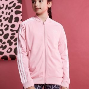Adidas Originals Girls' Trefoil Superstar Track Top Vaaleanpunainen