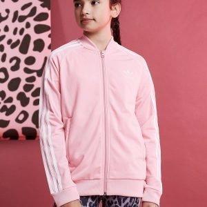 Adidas Originals Girls' Trefoil Superstar Track Top Vaaleanpunainen