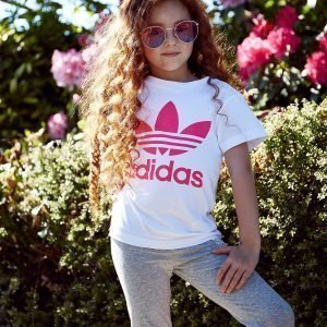 Adidas Originals Girls' Trefoil T-Shirt Valkoinen