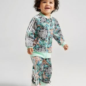 Adidas Originals Girls' Zoo Superstar Tracksuit Infant Vihreä