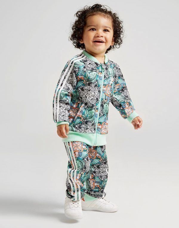 Adidas Originals Girls' Zoo Superstar Tracksuit Infant Vihreä