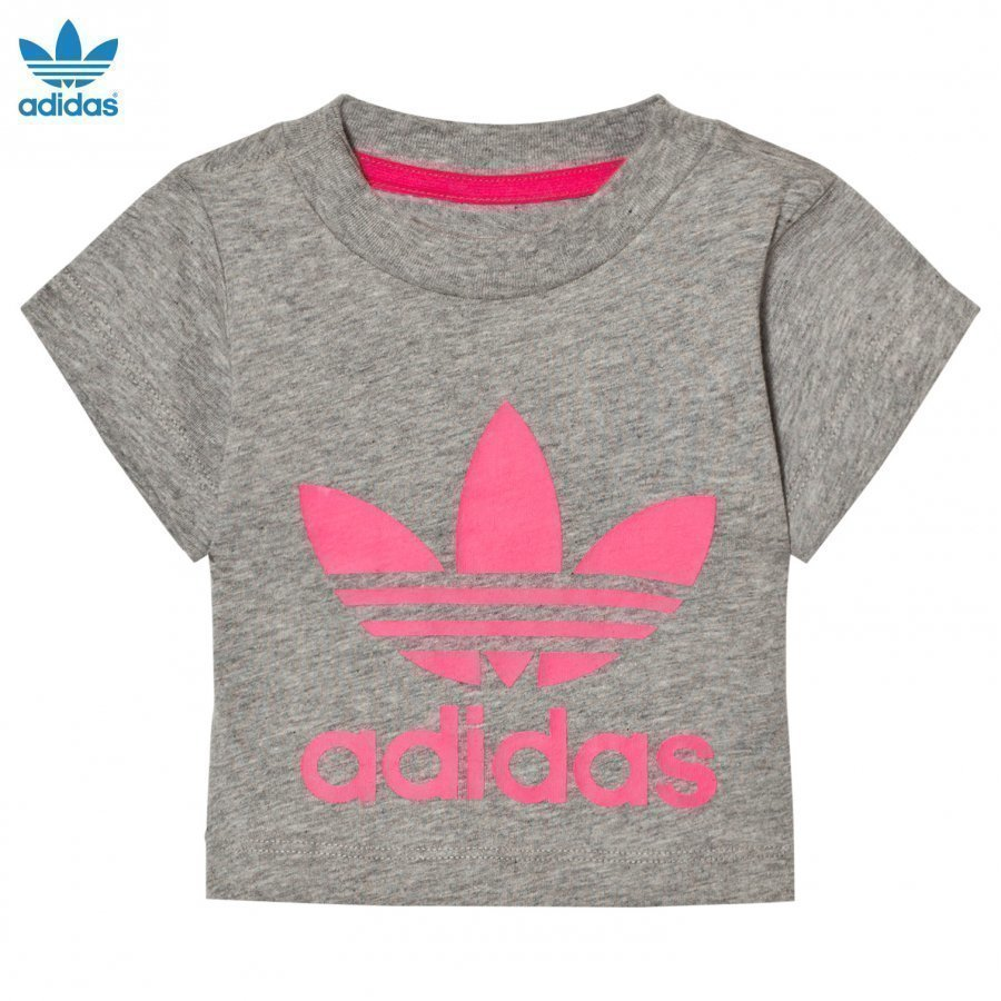 Adidas Originals Grey Infants Logo Tee T-Paita