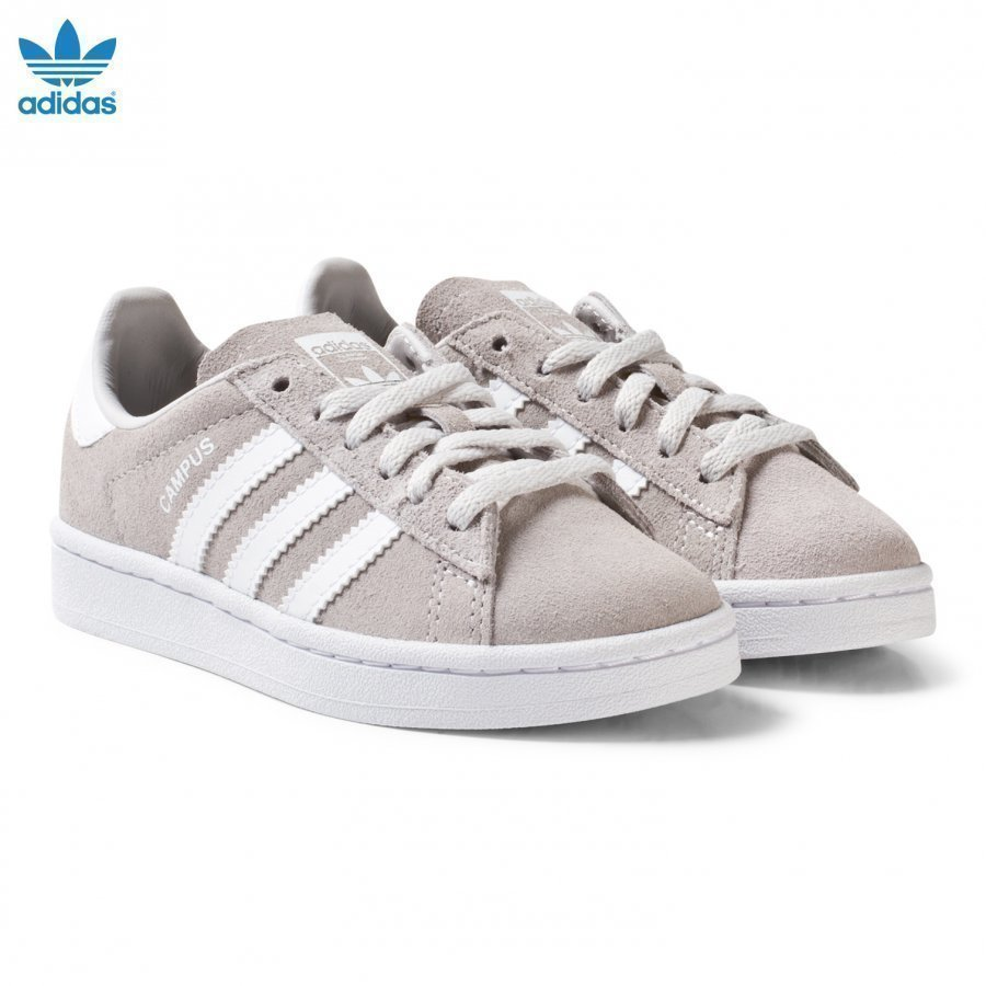 Adidas Originals Grey Kids Campus Trainers Lenkkarit