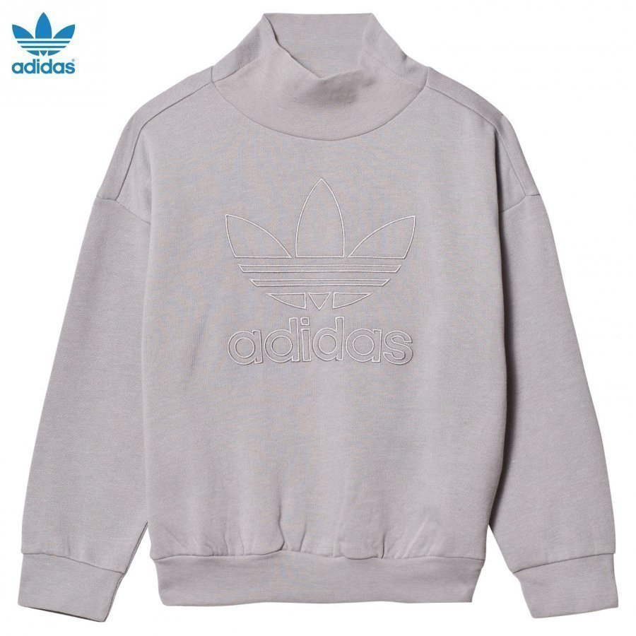 Adidas Originals Grey Logo Crew Sweater Oloasun Paita