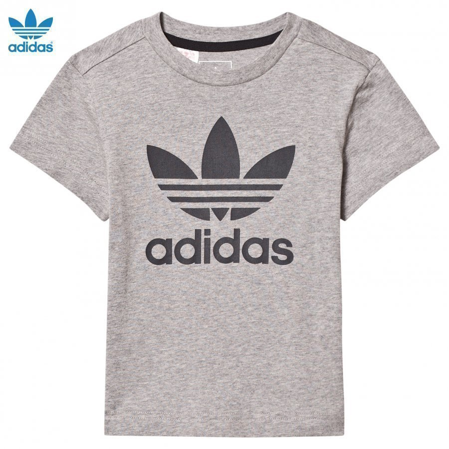 Adidas Originals Grey Logo Tee T-Paita