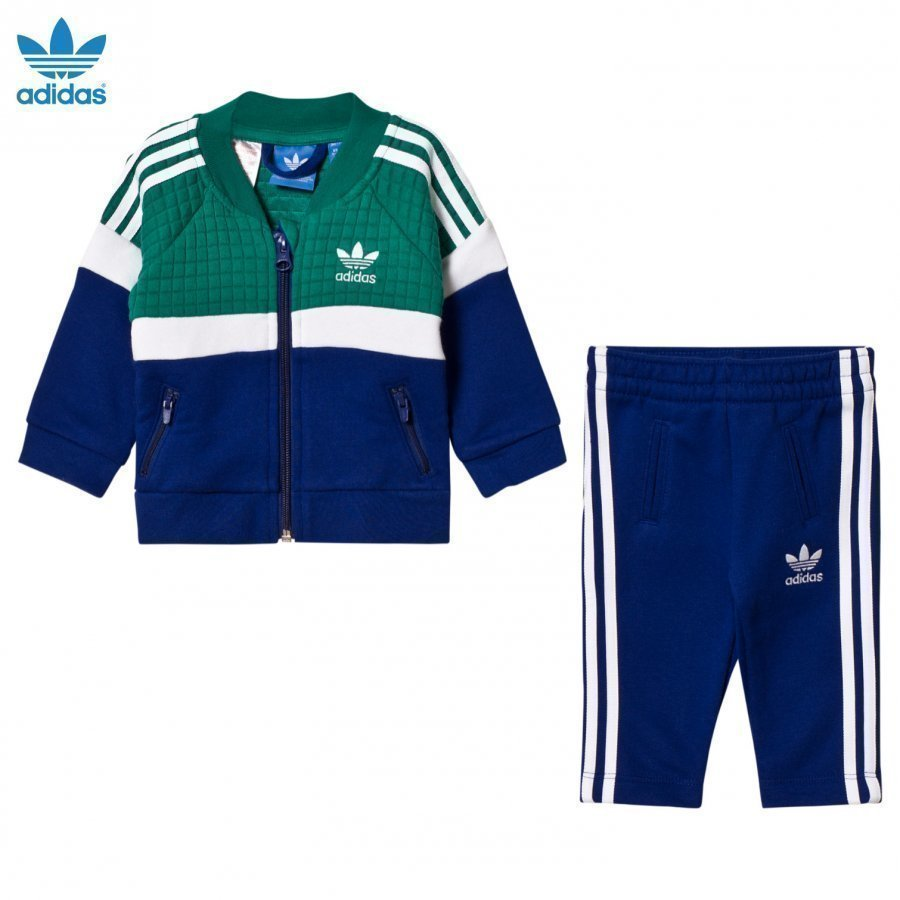 Adidas Originals Infant Tracksuit Green/Blue Verryttelyasu