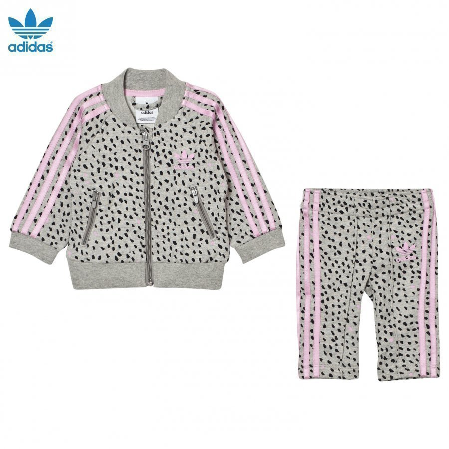 Adidas Originals Infants Sst Tracksuit Medium Grey Heather/Frost Pink Verryttelyasu