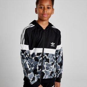 Adidas Originals Itasca Camo Poly Full Zip Hoodie Musta
