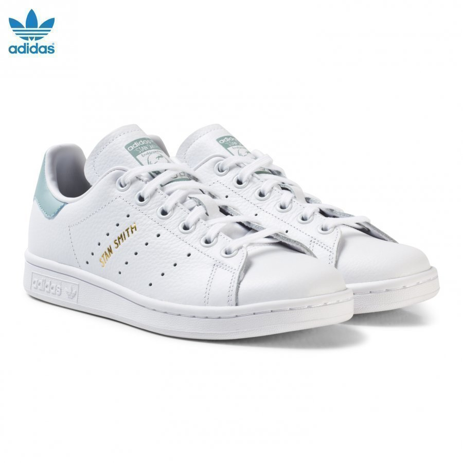 Adidas Originals Junior Stan Smith Trainers White And Mint Green Lenkkarit